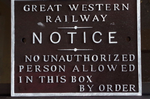 REPRODUCTION GWR GREAT WESTERN RAILWAY SIGNAL BOX NOTICE SIGN - CAST RESIN
